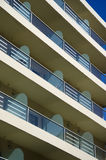 Modern  house wall fragment with balcony Stock Photography