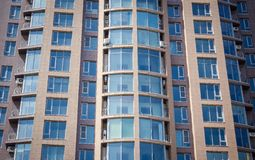 Modern house, windows stock photos