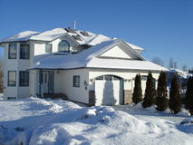 Modern house in winter Stock Photography