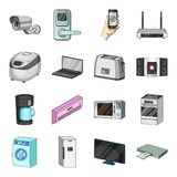 Modern household appliances cartoon icons in set collection for design.Household items vector symbol stock web Stock Photo