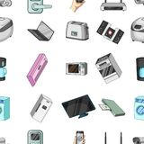 Modern household appliances cartoon icons in set collection for design.Household items vector symbol stock web Stock Photos