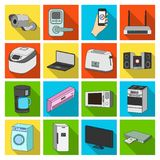 Modern household appliances flat icons in set collection for design.Household items vector symbol stock web illustration Royalty Free Stock Photo