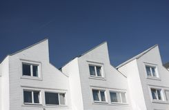 Modern houses. A row of modern houses Royalty Free Stock Images