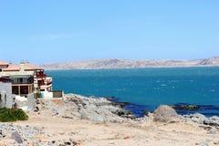 Modern houses view Atlantic ocean, Luderitz, Namibia Royalty Free Stock Image