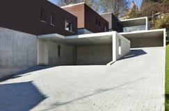 Modern houses, garage Stock Photography