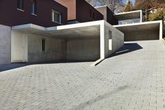 Modern houses, garage Stock Image