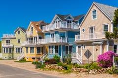 Modern Houses in Gloucester Massachusetts USA royalty free stock images