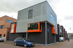 Modern houses in Groningen, Holland Stock Images