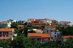 Modern houses in Hvar, Croatia Royalty Free Stock Image