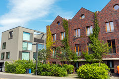 Modern houses made of bricks and concrete Royalty Free Stock Photo