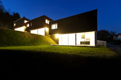 Modern houses,  outdoor by night Stock Photography