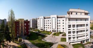 Modern houses panorama stock photo