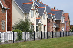Modern Houses in Row. A row of modern houses built in the traditional style Stock Images