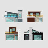 Modern houses set Stock Photo