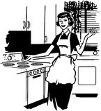 Modern Housewife Royalty Free Illustration