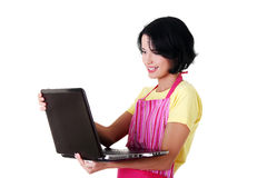 Modern housewife or female worker Royalty Free Stock Image