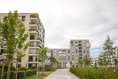 Modern housing in the city Stock Photo