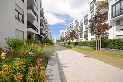 Modern housing in the city Royalty Free Stock Images