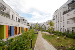 Modern housing in the city Royalty Free Stock Photos