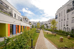 Modern housing in the city Royalty Free Stock Photo