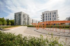 Modern housing in the city Stock Images