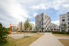 Modern housing in the city Stock Photos
