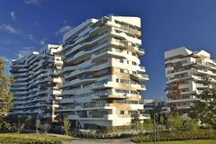 Modern housing development Milan Italy royalty free stock image