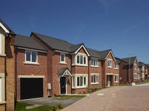 Modern housing development Royalty Free Stock Photos
