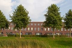 Modern housing estate in Hoogeveen in evening light Stock Image