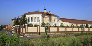 Modern housing estate in Omsk. Stock Image