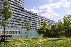 Modern housing form vienna Stock Image