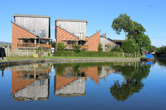 Modern housing by Lancaster canal at Garstang Royalty Free Stock Photos