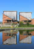 Modern housing by Lancaster canal at Garstang Stock Photography