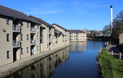Modern housing  by Lancaster canal, Lancaster Stock Image