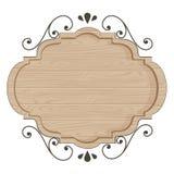 Modern houten klassiek teken vectorontwerp Stock Foto