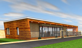 Modern huis vector illustratie