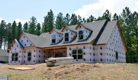 Modern huis in aanbouw Royalty-vrije Stock Afbeelding