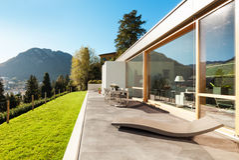 Modern huis in cement Royalty-vrije Stock Afbeelding