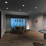 Modern Huis - Eetkamer Stock Afbeeldingen