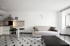 Modern Huis, flat royalty-vrije stock afbeeldingen