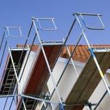 Modern huis met steiger Royalty-vrije Stock Foto's