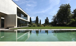 Modern huis in openlucht Royalty-vrije Stock Fotografie