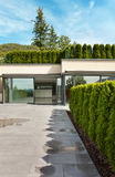 Modern huis, openlucht Stock Afbeelding