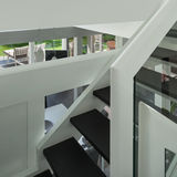 Modern huis, trap Stock Afbeelding