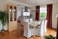 Modern huis, woonkamer Stock Foto's