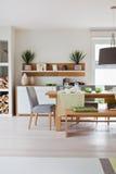 Modern huis, woonkamer Stock Fotografie
