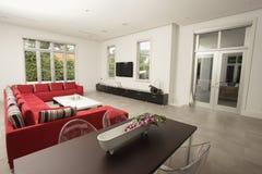 Modern huisBinnenland Stock Foto
