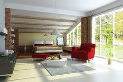 Modern huisbinnenland Royalty-vrije Stock Afbeelding