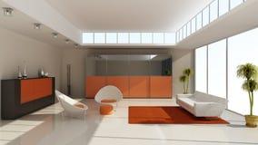 Modern huisbinnenland vector illustratie