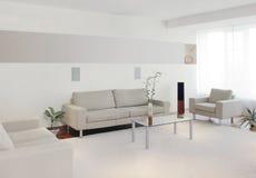 Modern huisbinnenland stock afbeeldingen